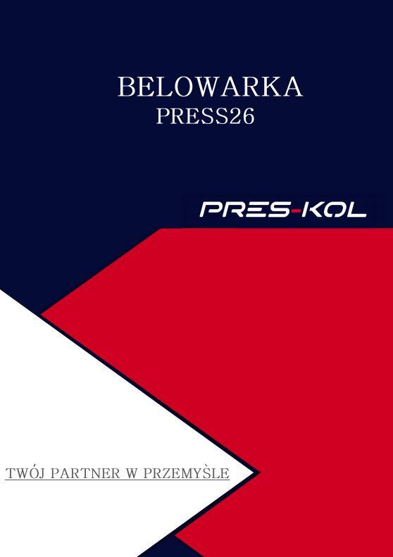 Nowość- Belowarka PRESS26
